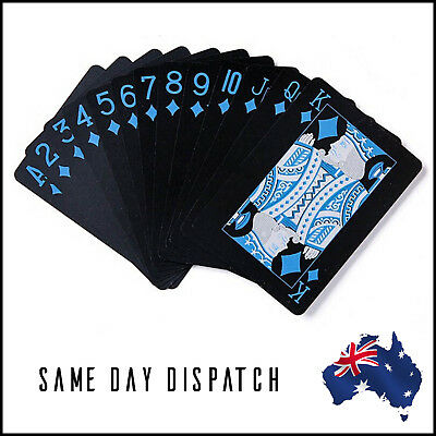 Black Plastic Playing Cards Poker Cards Waterproof Pvc Deck Of Cards