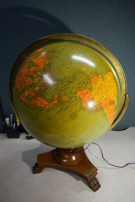 "Replogle 16"" Illuminated Glass Library Globe"