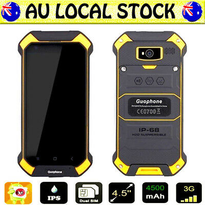 Yellow Discovery V19 Unlocked Android Waterproof Rugged Mobile Cell Smartphone