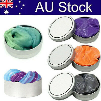 2PC Hand Putty Luminous Slime Play Dough Magnetic Rubber Mud Clay Plasticine Toy