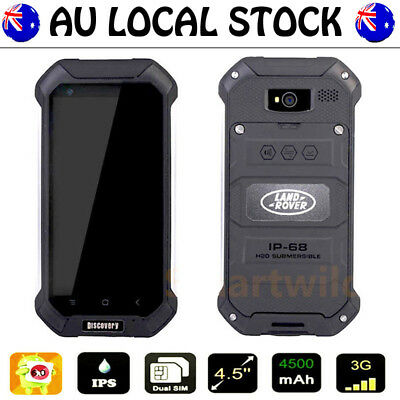 Black Discovery V19 Unlocked Android Waterproof Rugged Mobile Smartphone DualSim