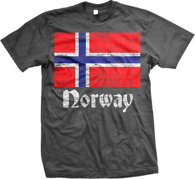 Norway Flag Distressed Old Font Norwegian Country From NOR NO Born Men/'s Thermal