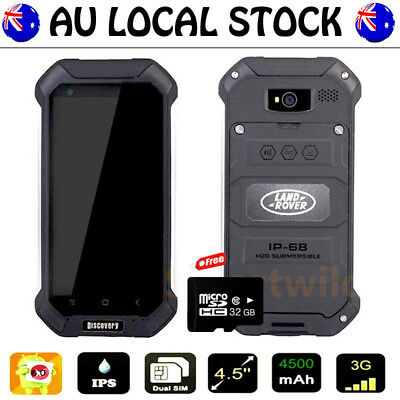 Black Discovery V19 Unlocked Android Waterproof Rugged Mobile Smartphone+32GB AU