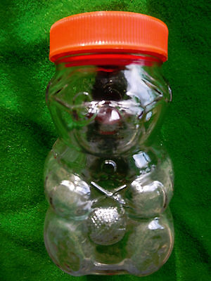 Vintage/Retro Grandma Bear 15.5cm glass jar - possibly Kraft
