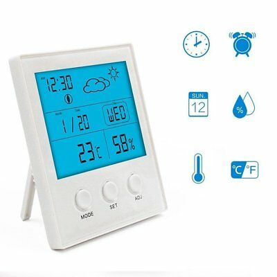Digital Hygrometer Thermometer, JTONG Portable Blue Backlight Indoor Humidity