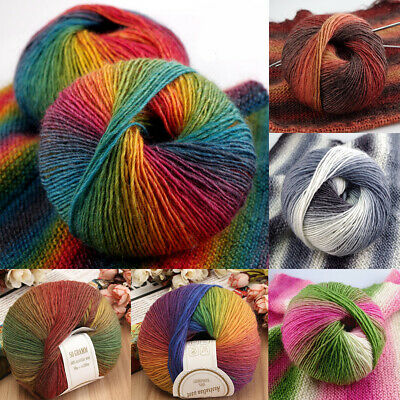 Super Soft Colorful Cashmere Yarn Ball Baby Natural Smooth Wool Knitting DIY 50g