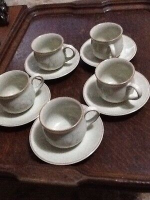 Denby Daybreak Small Espresso Cups And Saucers x5