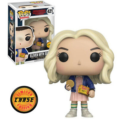 Funko POP TV Stranger Things Eleven with Eggos Chase In Wig Vinyl Action Figures