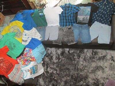 Bulk lot boys sz 14 summer clothes: Quiksilver/World Industries/Effekt/Lucid
