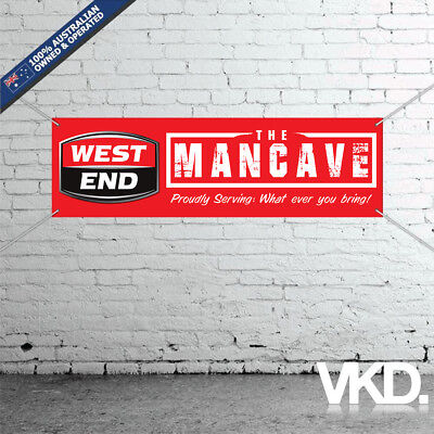 West End Draught Mancave Banner - Man Cave Bar New Personalised MB VB Beer Can