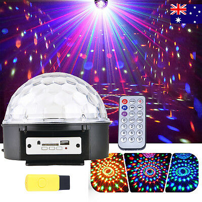LED Stage Light Lighting Crystal Magic Ball Effect DJ Disco Bar Party Club MP3