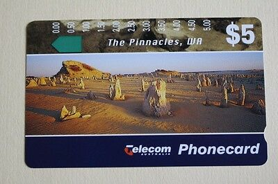 Telecom Phonecard $5 Landscapes II The Pinacles WA 1994* UNUSED* MINT Condition