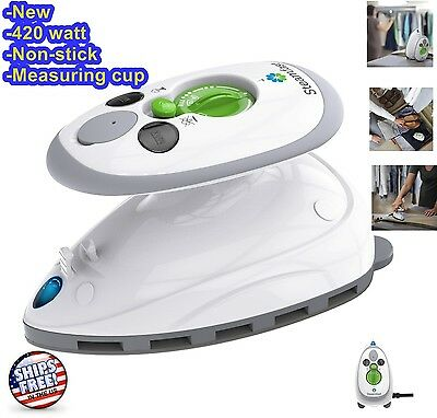 Steam Iron Mini Travel Portable Compact Electric Small Sewing Camp Craft Steamer