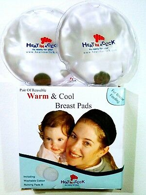 Heat in a Click Re-usable Breast Pads portable, re-usable and safe heat