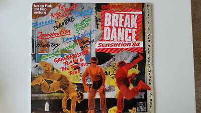 Breakdance Sensation 84, LP, Bravo, VG+ The Rock Steady Crew, Grandmaster Flash
