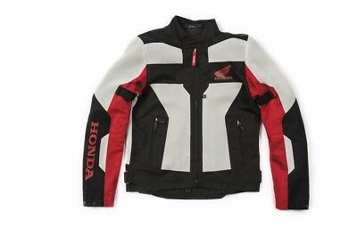 Spidi Honda Textile Mesh Motorcycle Jacket Black White Red Africa Twin New