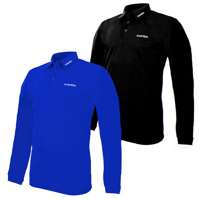 New 2019 FUNKTION GOLF Plain Long Sleeve Performance Polo Shirt