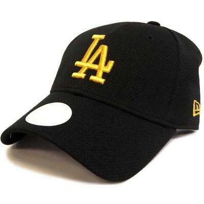 New New Era Womens 940 Mesh Strapback LA Dodgers - Black / Gold