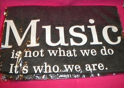 "Edifier Unisex Dk Grey Tee. ""Music-It's Not What We Do It's Who We Are"" Ptd. M."