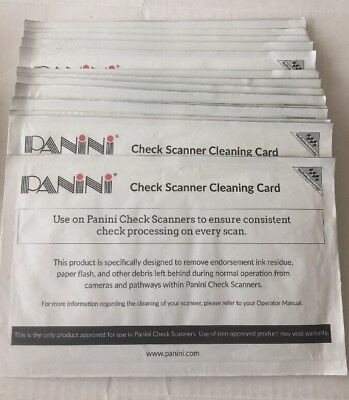 Panini Check Scanner Cleaning Cards 15 cards