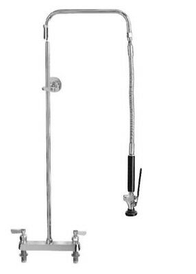 """Fisher 2311-WB Deck Mounted Pre-Rinse Faucet with 8"""" Centers, Swivel Arm"""