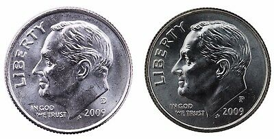 2009 P+D Roosevelt Dime Set ~ Uncirculated Coins from Bank Rolls
