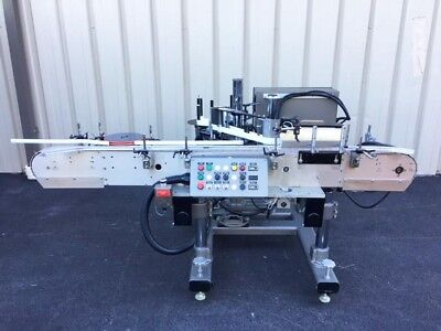 Accraply CCL Pressure Sensitive Wrap Around Labeler with Conveyor, Model 5005WA
