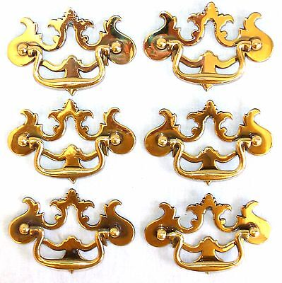 6 Drawer pull handle FURNITURE Pulls restoration hardware Colonial Brass E-659