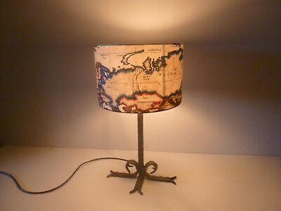 Wrought Iron Cross & Scroll Table Lamp, with / without  shade. £40 - £58