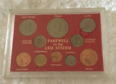 Great Britain Farewell To L.S.D. System Coins Uncirculated As Pictured