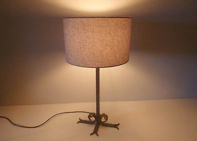 Wrought Iron Tall Cross & Scroll Lamp, with / without shade. £45 - £63