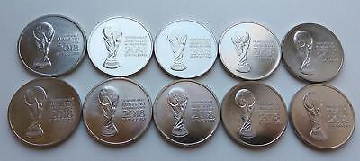 10 coins in bulk 25 rubles 2018 FIFA World Cup Russia 2nd issue UNC FREESHIPPING