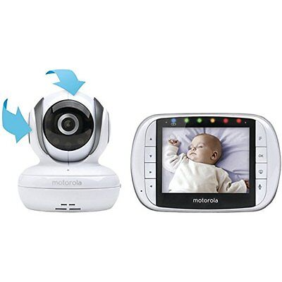 Motorola MBP36S Remote Wireless Video Baby Monitor 3.5 Inch Screen 1 Camera 2Way