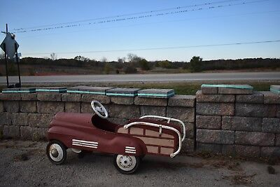 Antique Steel Craft Childs Station Way Pedal Car steel-craft 1940's vintage