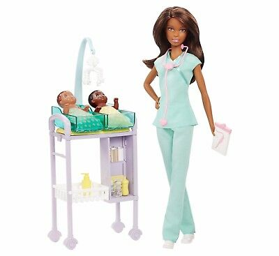Barbie® Careers Baby Doctor African-American Doll and Playset / Free Shipping