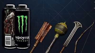Assassin's Creed Origins  4 Pack Monster Energy drink Code key PC, Ps4 Xbox One