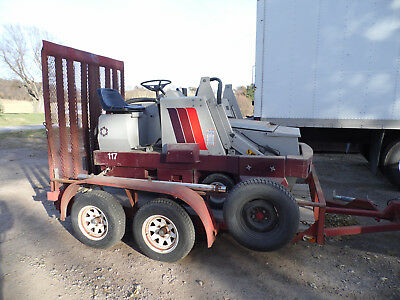 Power Boss Sweeper SW/80 HD Used Gas With Trailer