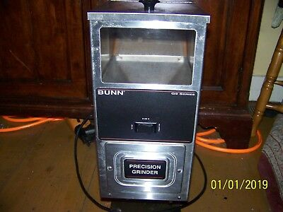 COFFEE GRINDER BUNN G9  STAINLESS STEEL ((EXTRA FINE))condition NO RESERVE!!!!