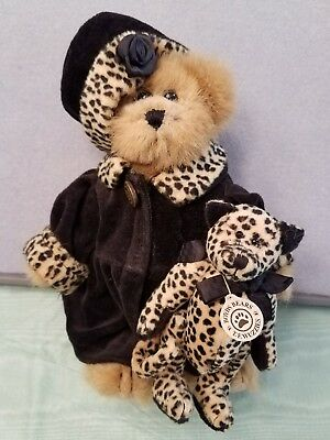 Boyds BAILEY BEAR Jointed Teddy w/ Leopard Cat T.F. Wuzzies 20th Anniversary
