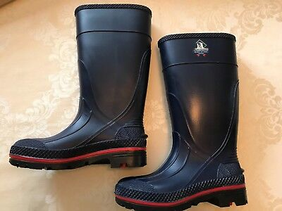 Northerner Navy Blue Rain Mud Work Tall Boots Size 5