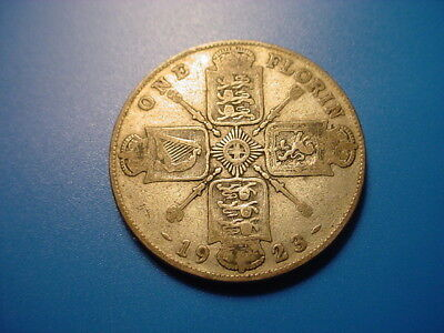 British - Silver - 1923 Florin In Nice Condition