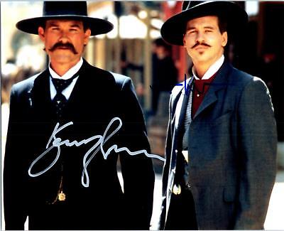 Val Kilmer Kurt Russell Tombstone autographed 8x10 Picture signed Photo with COA