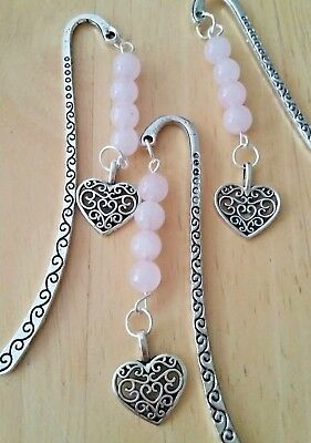 """Tibetan Silver """"etched Heart Charm"""" Bookmark"""