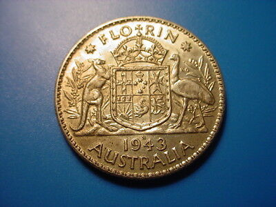 Australia - Silver - 1943-S Florin In Excellent Condition