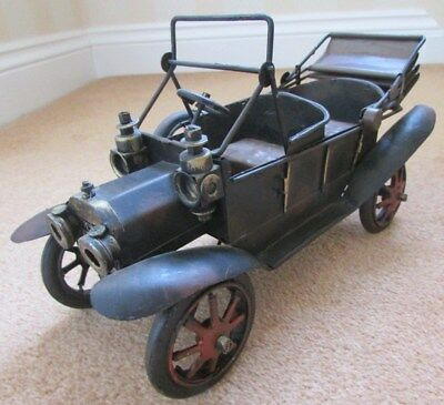 Model Car made from Tin and Scrap Metal Pieces