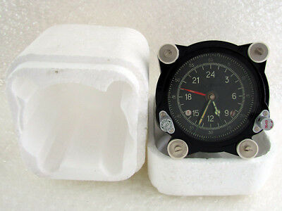 129-ChS 55M Vintage Russian Aircraft TU-134 MIG HELICOPTER MI-9 Panel Clock