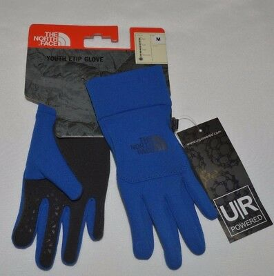 The North Face Youth Etip Boys Girls Gloves Powered Touch Screen M 10/12 New