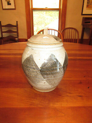 """New Hand Thrown Clay 9"""" Jar with Lid"""