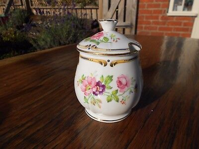 Vintage H & M Sutherland Bone China Ludlow Preserve/Jam Pot and Lid