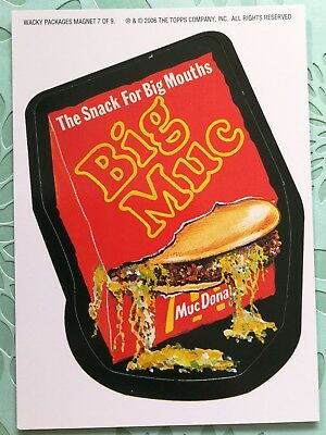 Wacky Packages Topps Card New Series 3 Special Magnet Big Muc Donalds Mac #7